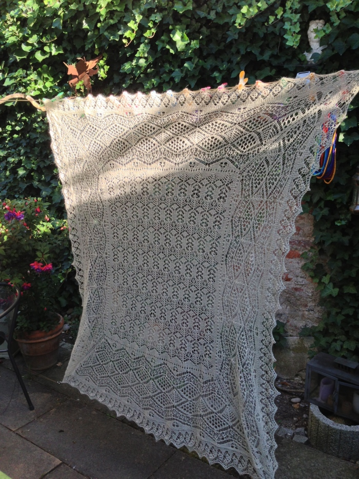 Cameo Shawl by Sharon Miller