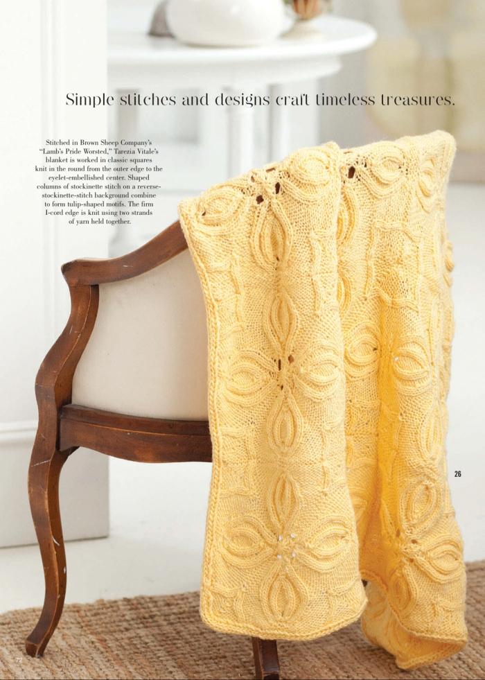 Tulip motif blanket by Tarezia Vitale