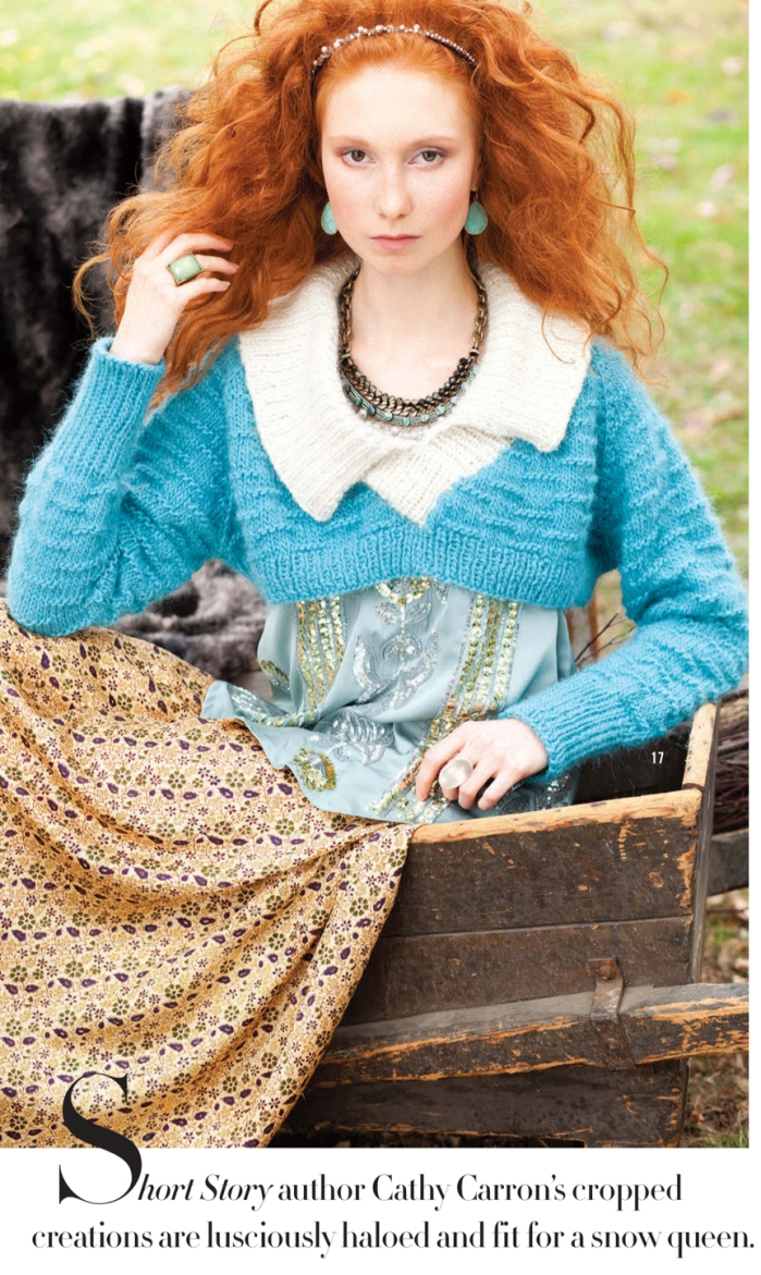 Puritan-collar pullover by Cathy Carron