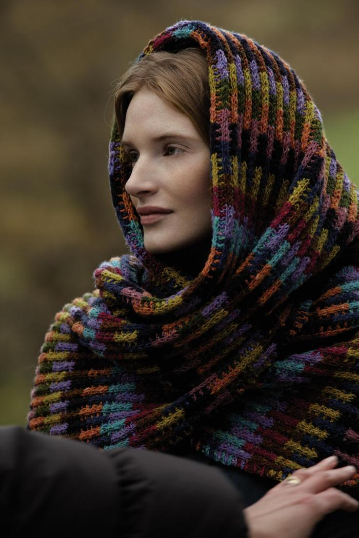Soumak Scarf Wrap by Lisa Richardson