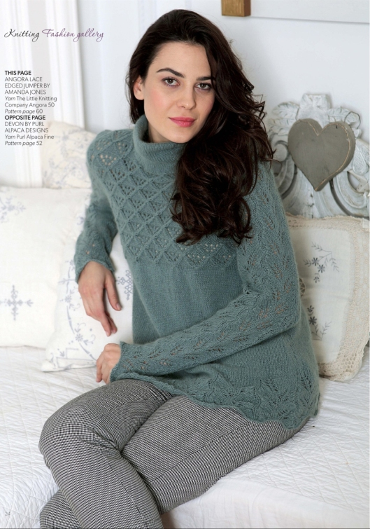 Angora lace edged jumper by Amanda Jones