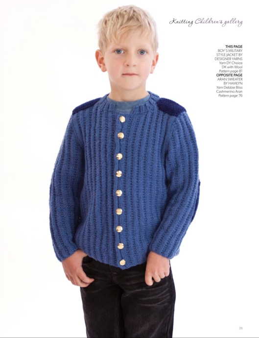 Boy's military style jacket by Designer Yarns