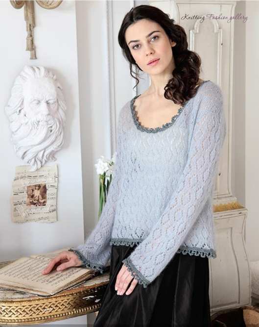 Diamond lace top by Sian Brown