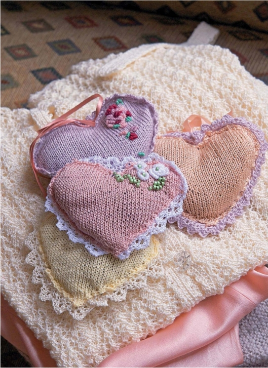 Heart Lavender bags by Jennie Atkinson