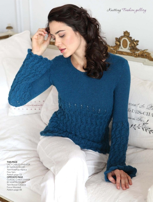 Lacy cabled sweater by Natalie Smart