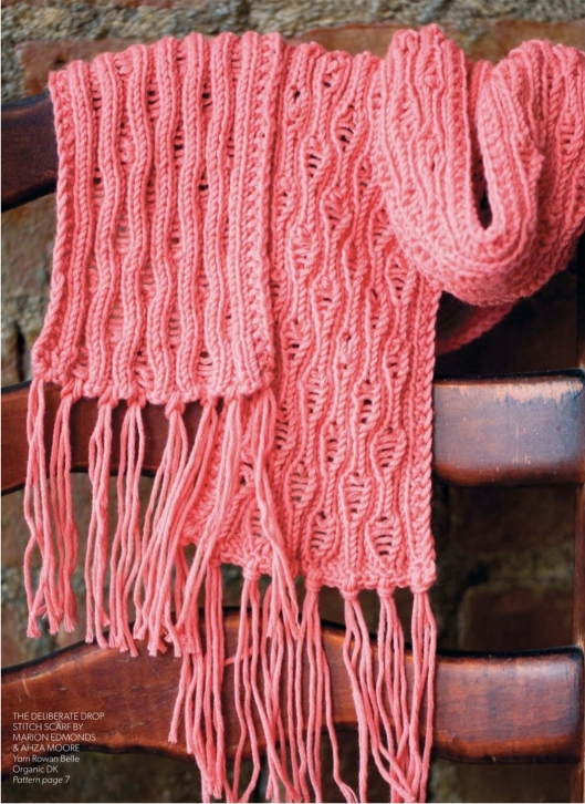 The deliberate drop stitch scarf by Marion Edmonds & Ahza Moore