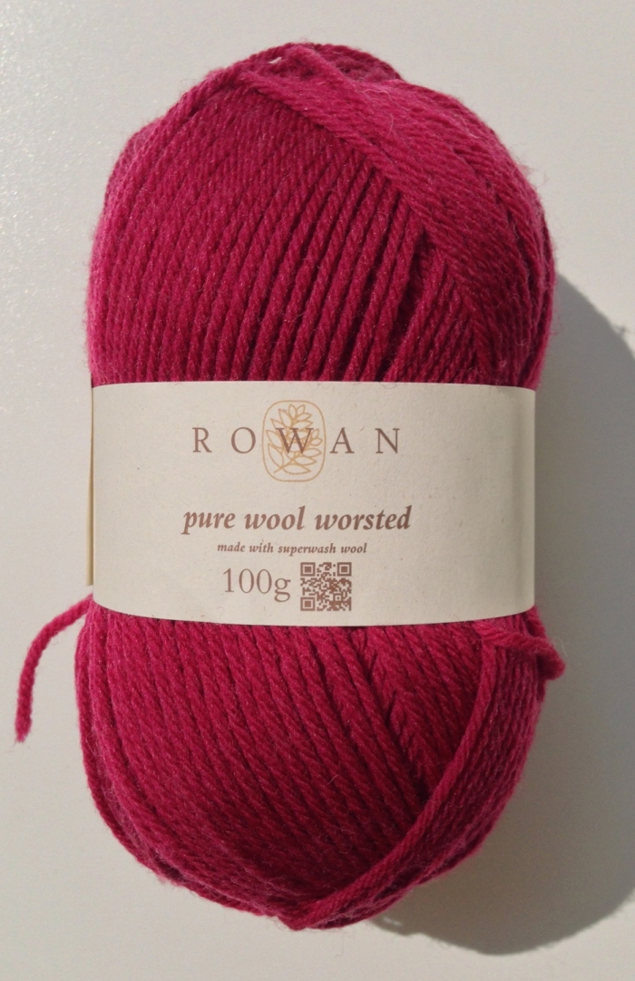 Rowan Pure Wool Worsted - Crimson 123