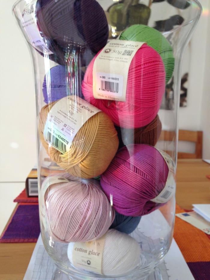 Rowan Cotton Glacé for Jane Crowfoots Crochet Club 2014
