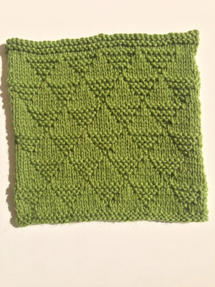 Garter Stitch Wave - Olive