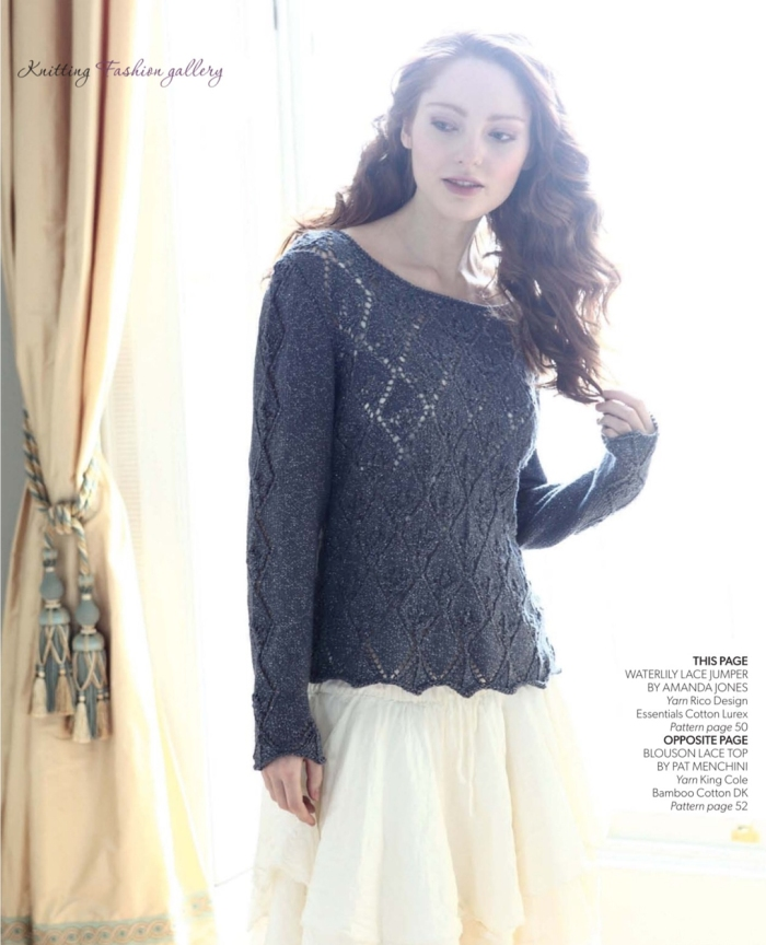 Waterlily Lace Jumper by Amanda Jones