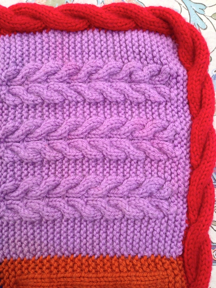 Rowan Pure Wool Worsted Afghan - Corner Detail