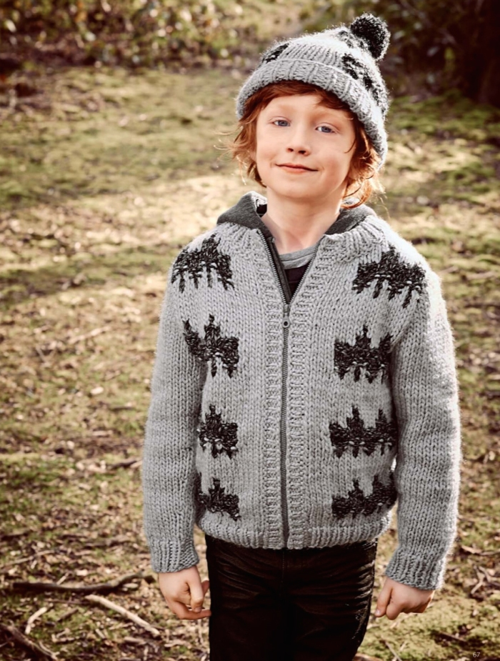 Boy's Zipped Fairisle Jacket by Bergère de France
