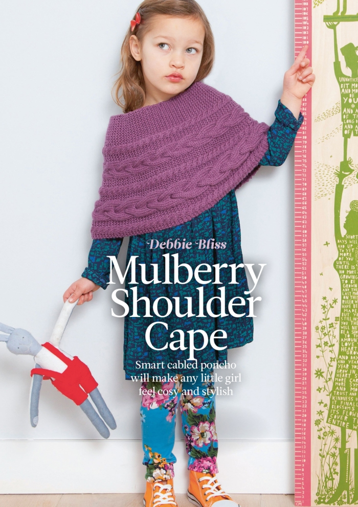 Debbie Bliss - Mulberry Shoulder Cape