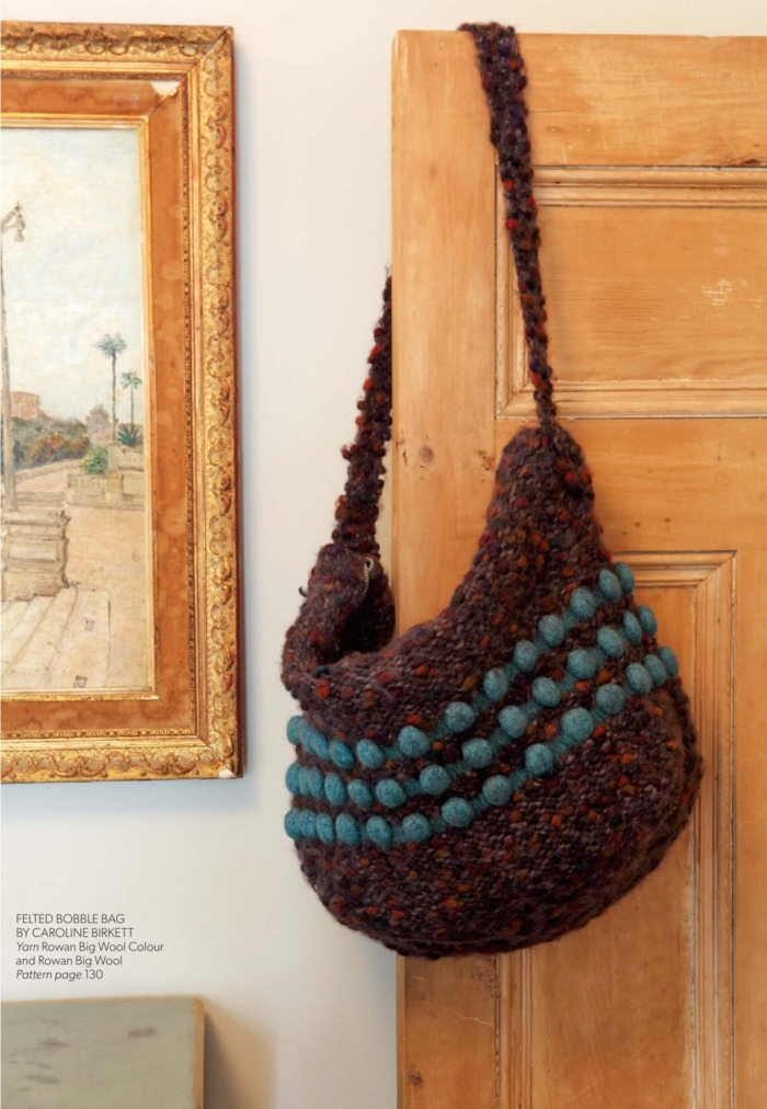 Felted Bobble Bag by Caroline Birkett