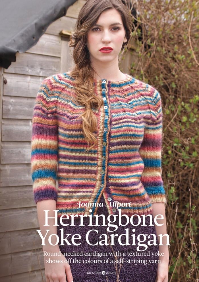 Joanna Allport - Herringbone Yoke Cardigan