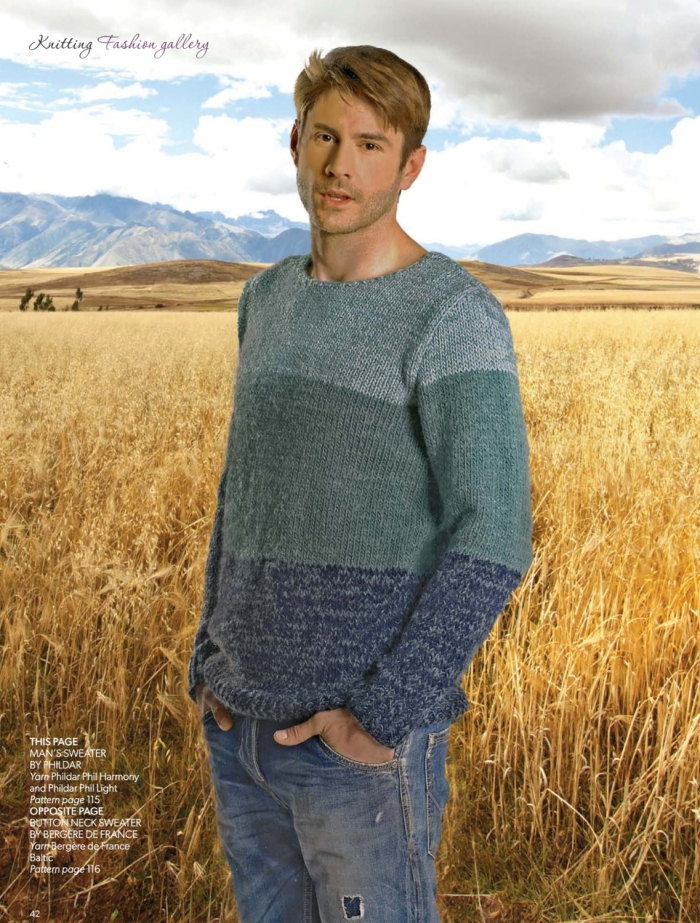 Man's Sweater by Phildar