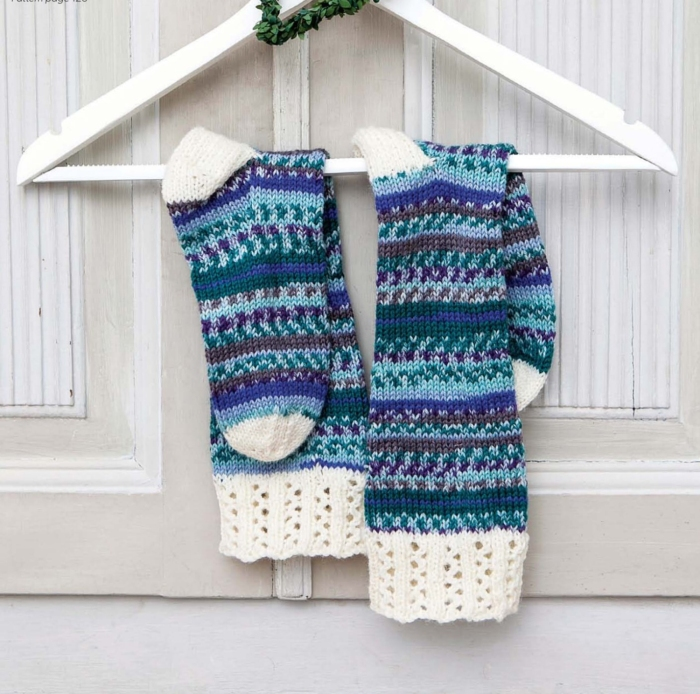 Nordic Long Socks by Sarah Hazell