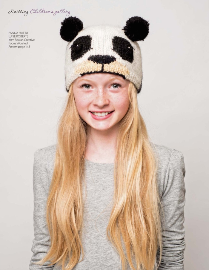 Panda Hat by Luise Roberts