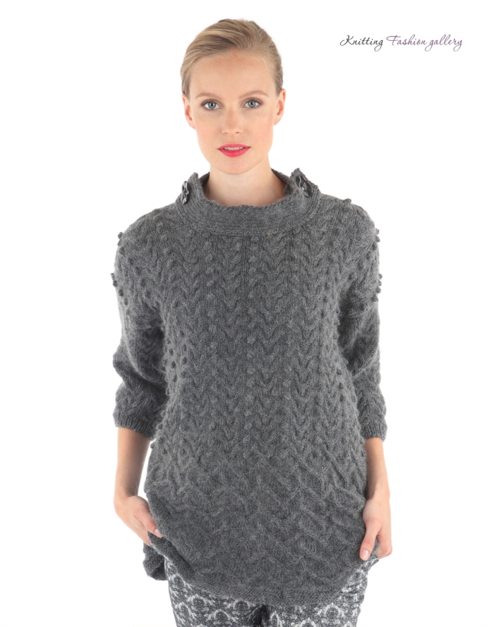 Textured Funnel Neck Jumper by Pat Menchini