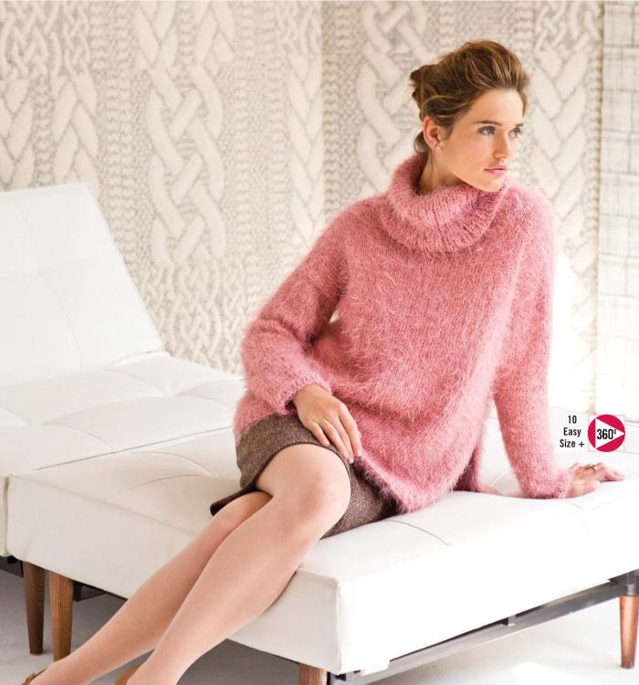 Annabelle Speer - Oversized Turtleneck Pullover