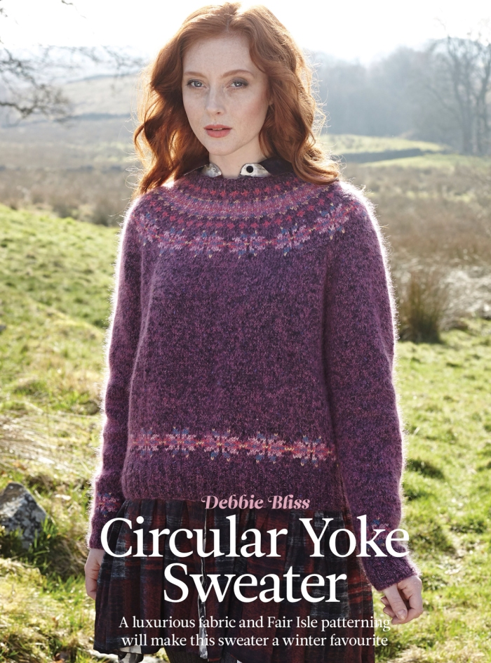 Circular Yoke Sweater by Debbie Bliss