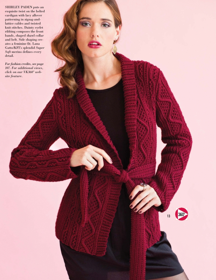 Shirley Paden - Belted Cardigan