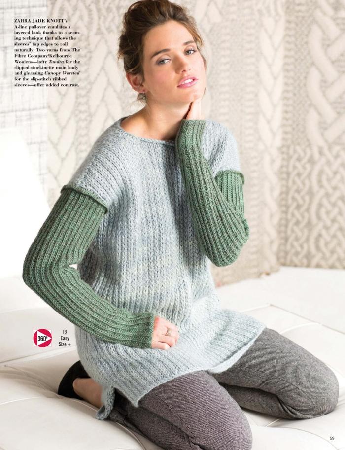 Zahra Jade Knott - Ribbed Sleeve Pullover