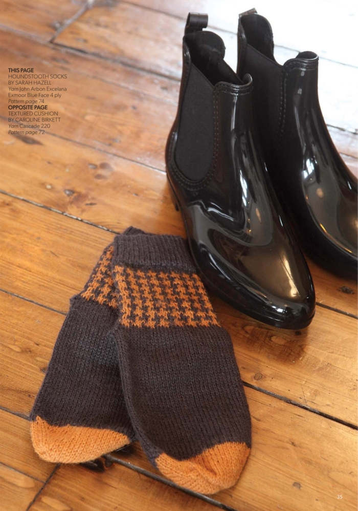 Houndstooth Socks by Sarah Hazell