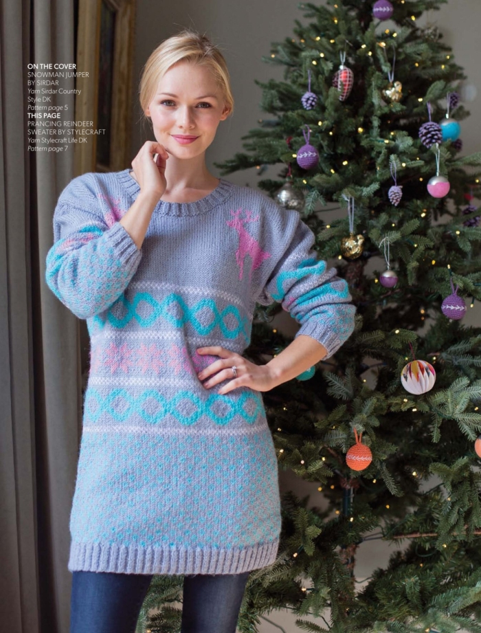Prancing Reindeer Sweater by Stylecraft