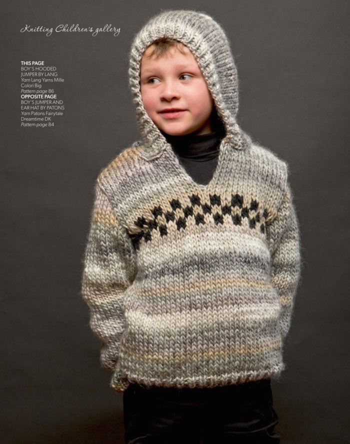 Boy's Hooded Jumper by Lang Yarns