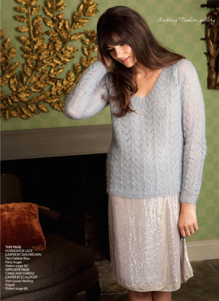 Horseshoe Lace Jumper by Sian Brown