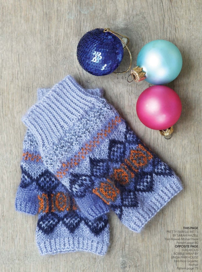 Pretty Fairisle Mitts by Sarah Hazell