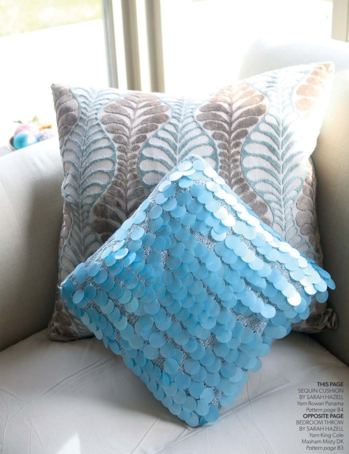 Sequin Cushion by Sarah Hazell