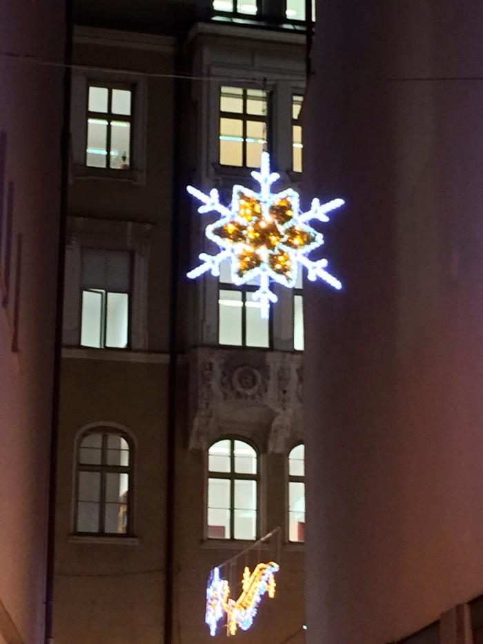 Christmasdecoration, Mettlochgässchen, Augsburg