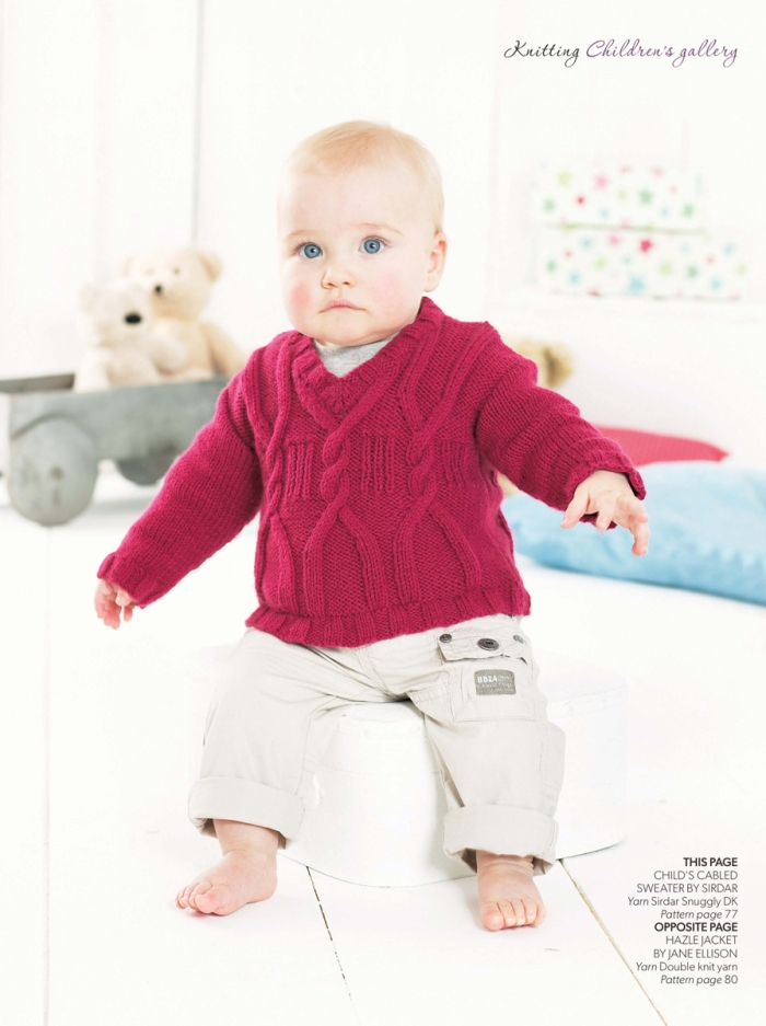 Child's Cabled Sweater by Sirdar