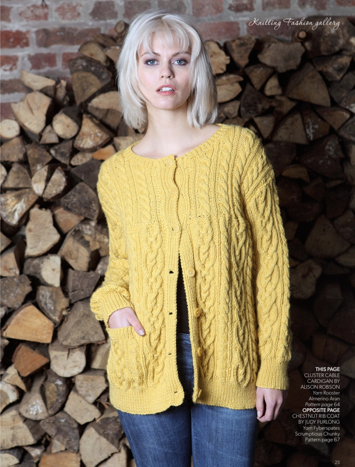 Cluster Cable Cardigan by Alison Robson
