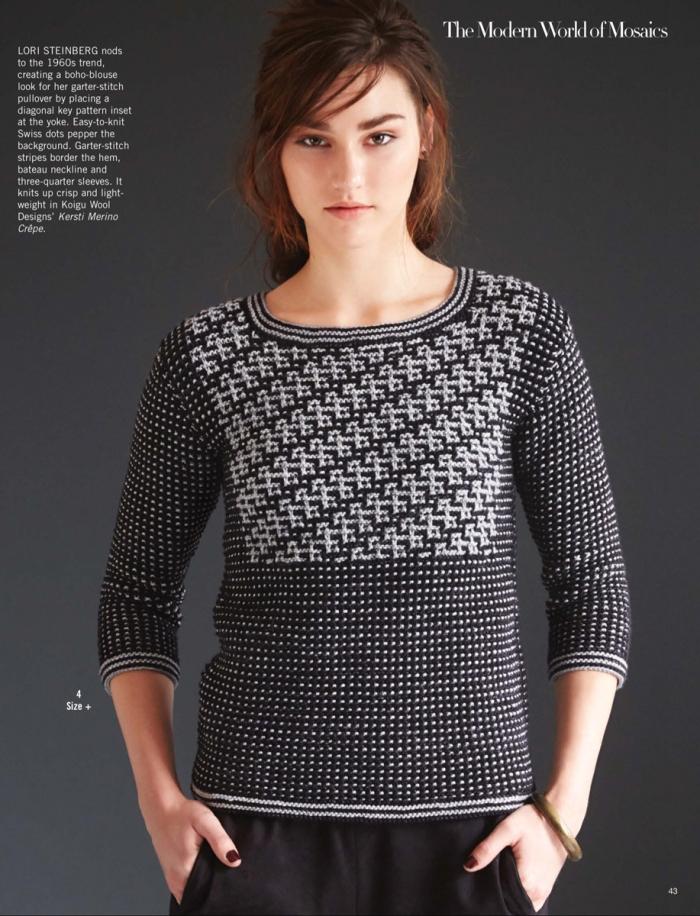 Garter Stitch Pullover by Lori Steinberg
