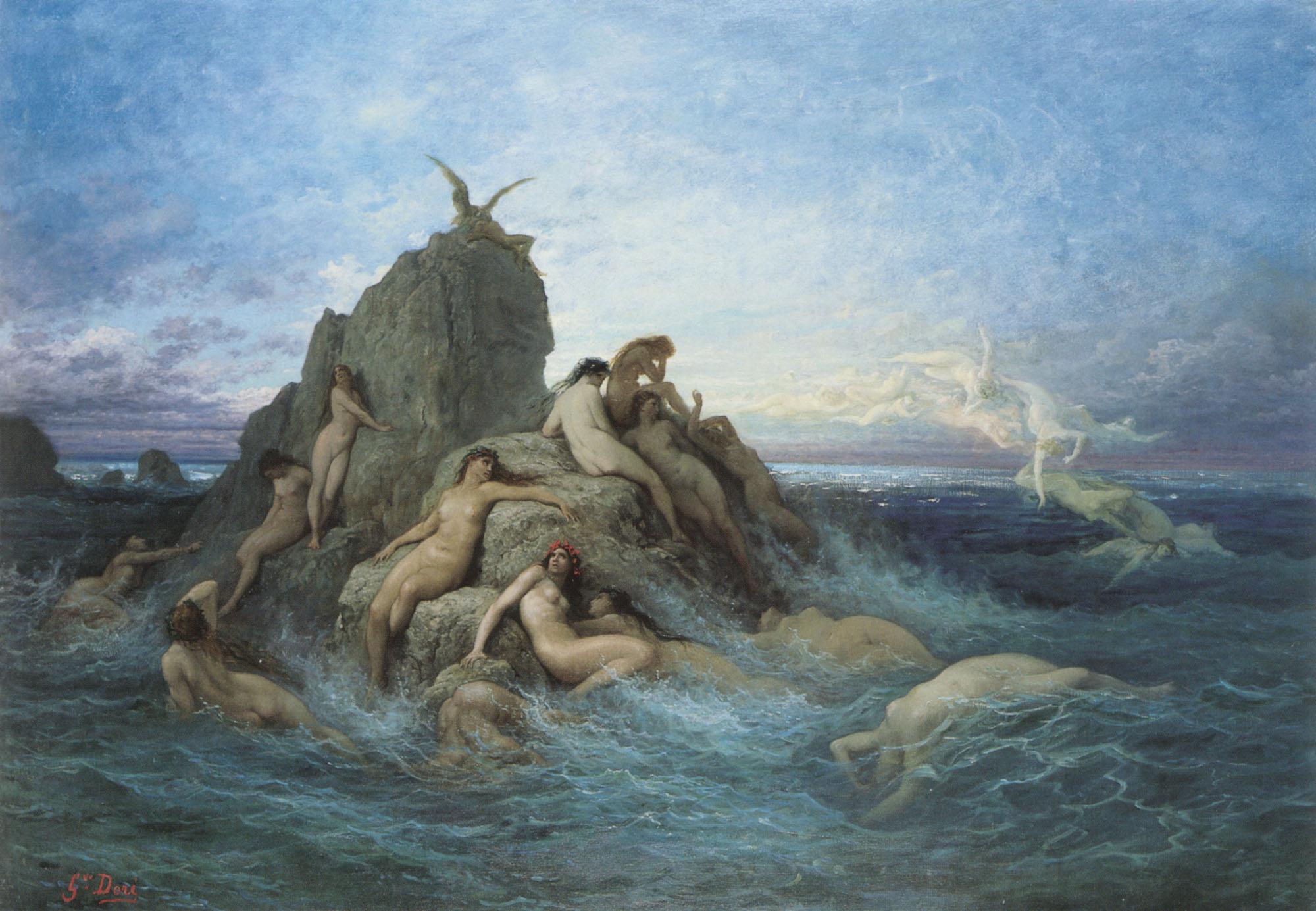 Gustave Doré [Public domain], Oceanides