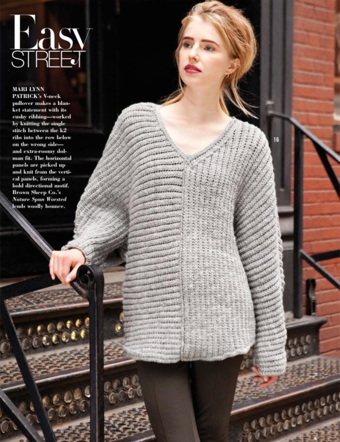 Oversized V-Neck Pullover by Mari Lynn Patrick