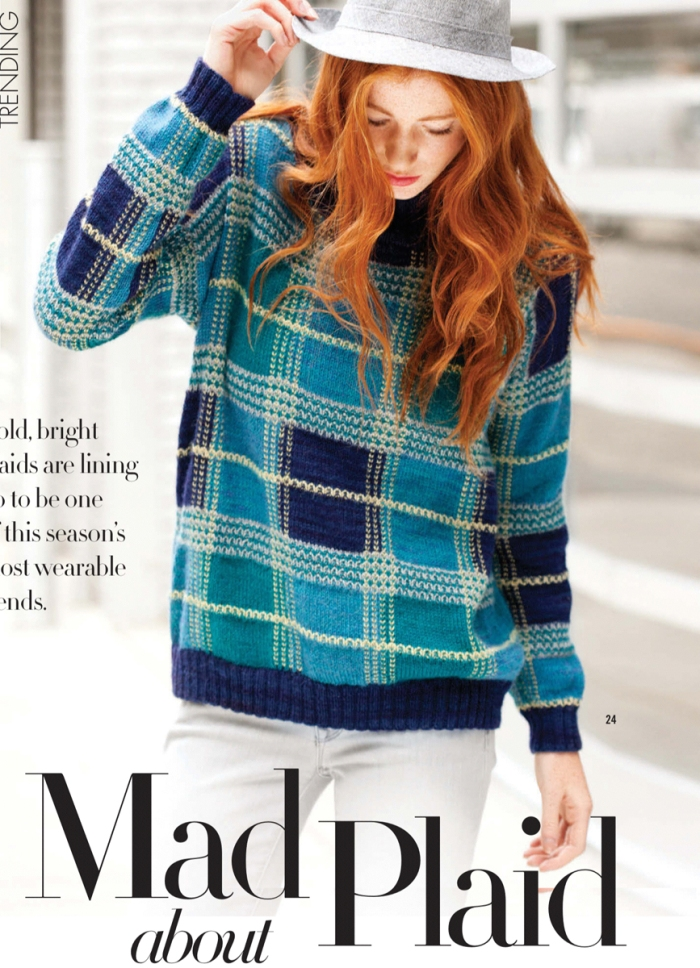 Plaid Pullover by Norah Gaughan