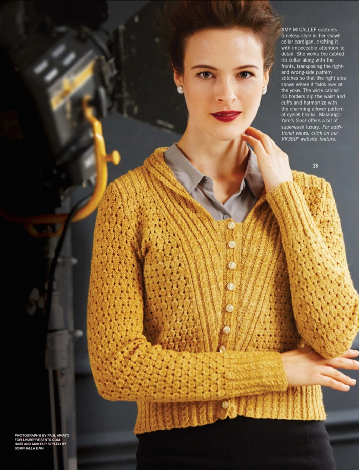 Shawl-Collar Cardigan by Amy Micallef