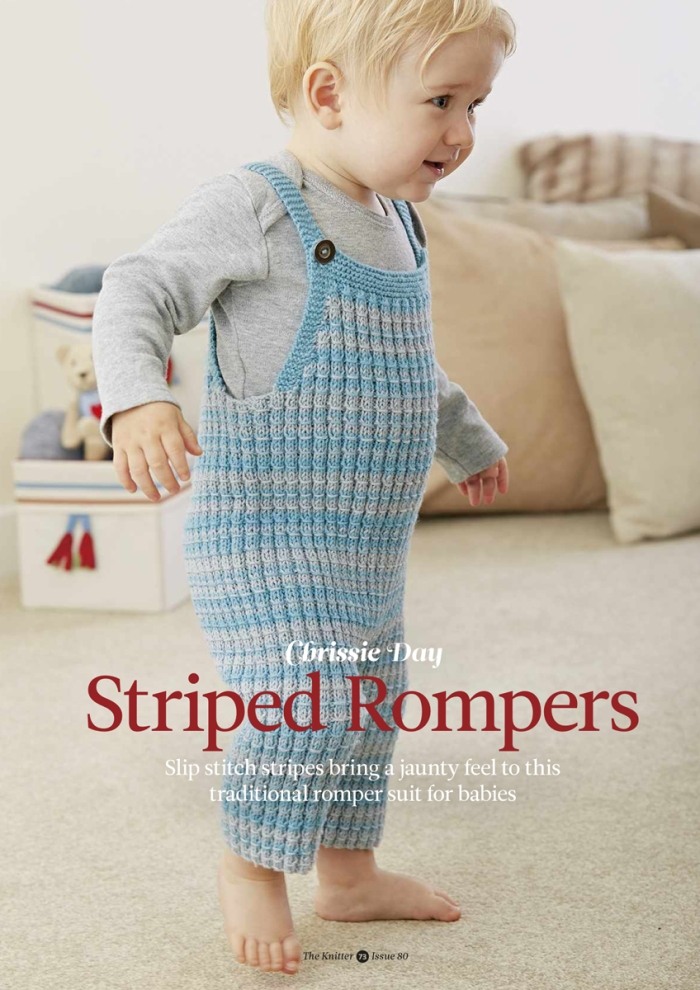 Striped Rompers by Chrissie Day
