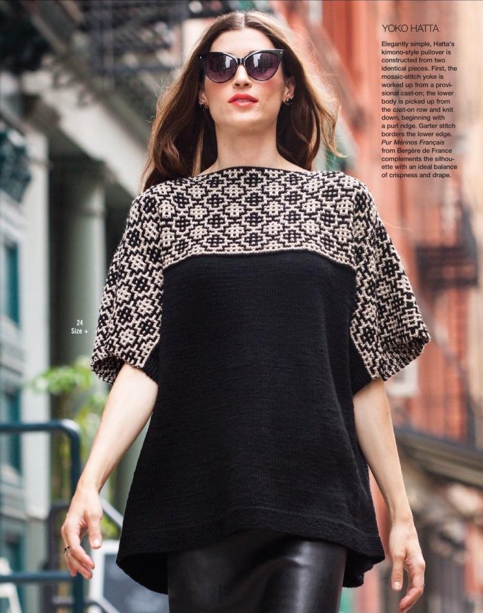 Kimono-Style Pullover by Yoko Hatta