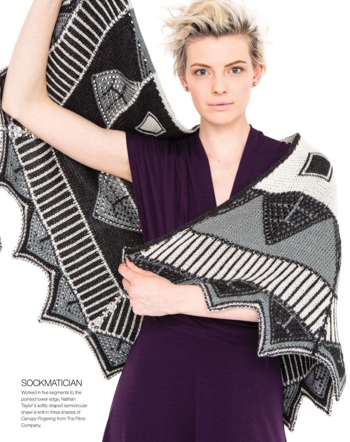 Semicircular Double-Knit Shawl by Nathan Taylor