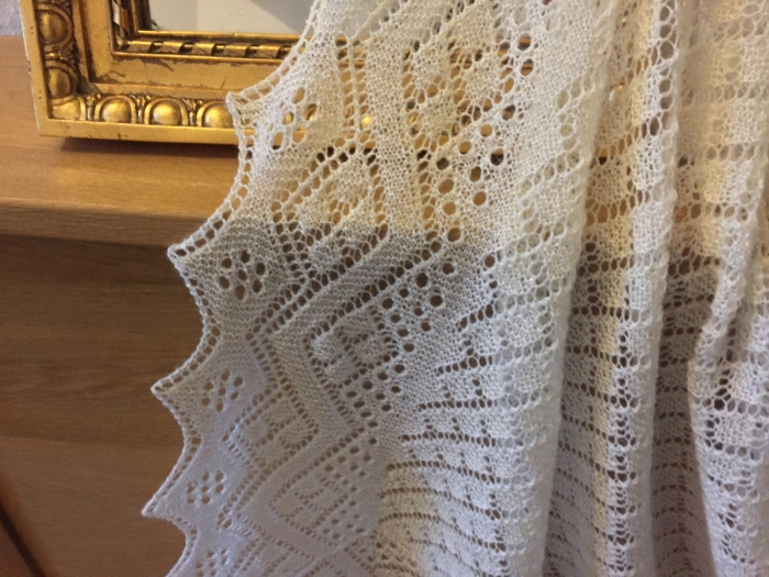 1939 Christening Shawl by knittingkonrad