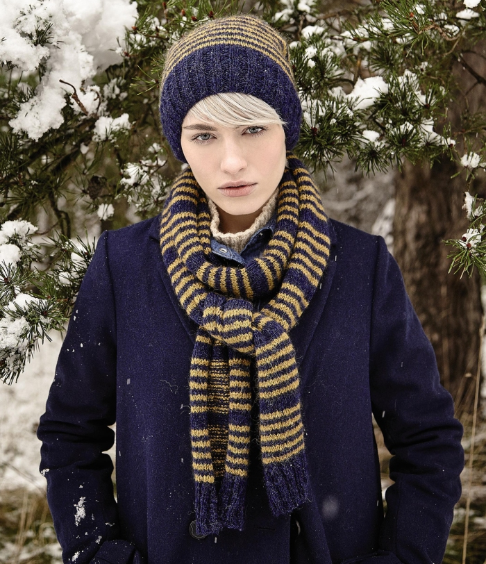 Wedenshaw Hat and Scarf by Sarah Hatton