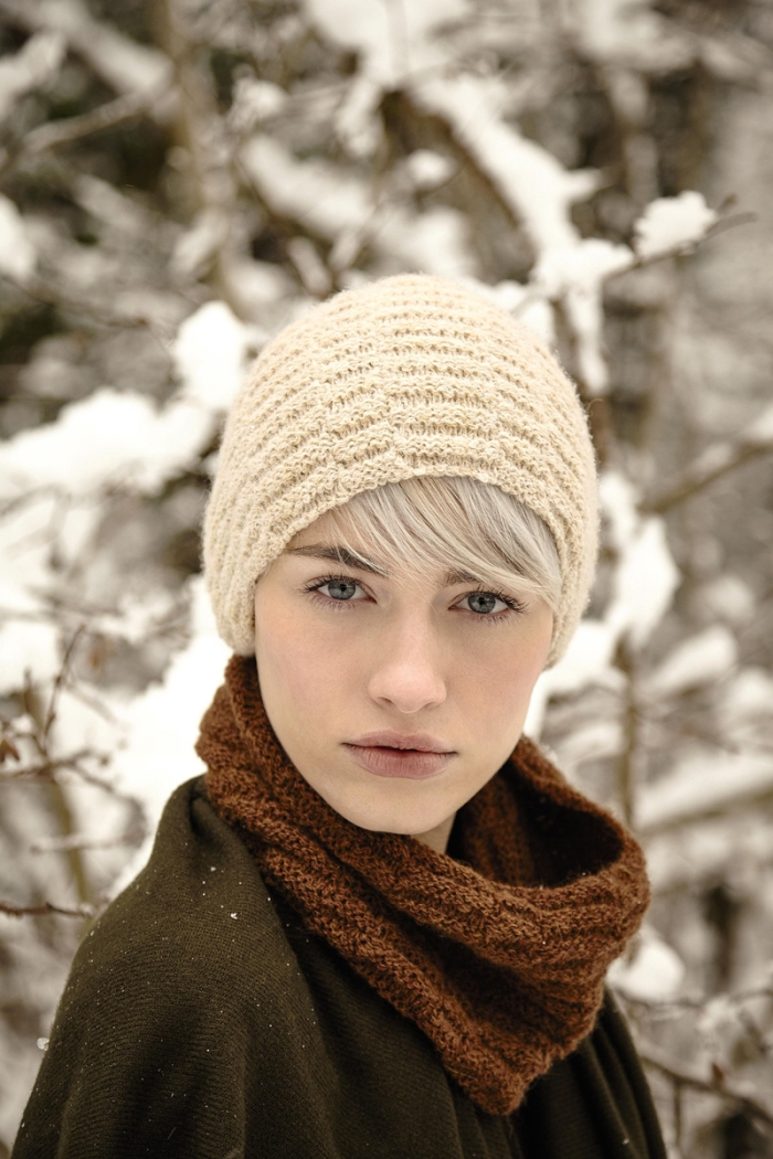 Wheatland Hat & Cowl by Sarah Hatton