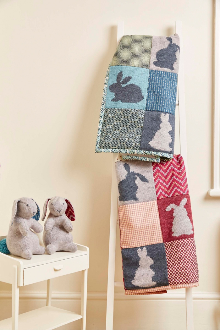 Bertie & Bea Bunnies and Bertie & Bea Quilt by Jem Weston © 2016 Quail Publishing Photography: Jesse Wild