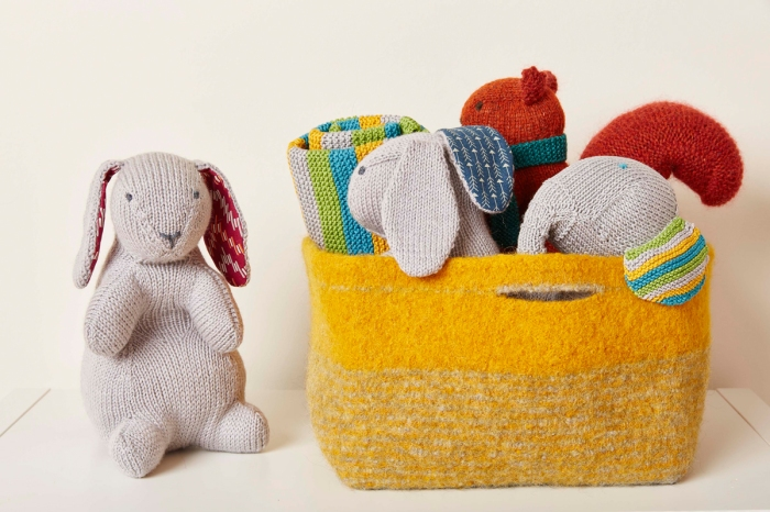 Felted Toy basket by Jem Weston © 2016 Quail Publishing Photography: Jesse Wild